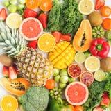 Φρούτα και λαχανικά πλούσια σε βιταμίνη C Στοκ εικόνα με δικαίωμα ελεύθερης χρήσης