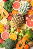 Φρούτα και λαχανικά πλούσια σε βιταμίνη C Στοκ φωτογραφία με δικαίωμα ελεύθερης χρήσης