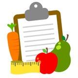 Φρούτα και λαχανικά - υγιής τρόπος ζωής διανυσματική απεικόνιση