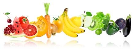 Φρούτα και λαχανικά χρώματος στοκ εικόνα με δικαίωμα ελεύθερης χρήσης