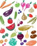 Φρούτα και λαχανικά Στοκ εικόνα με δικαίωμα ελεύθερης χρήσης