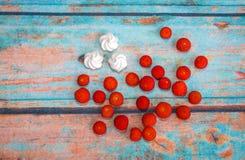 Φρούτα και μαρέγκα Arbutus Στοκ φωτογραφίες με δικαίωμα ελεύθερης χρήσης