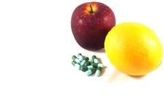 Φρούτα και φάρμακο Στοκ Εικόνα
