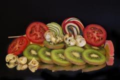 Φρούτα και candys Στοκ εικόνα με δικαίωμα ελεύθερης χρήσης