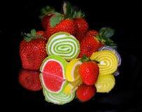 Φρούτα και candys Στοκ Φωτογραφίες