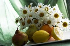 Φρούτα και chamomiles Στοκ φωτογραφία με δικαίωμα ελεύθερης χρήσης