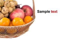Φρούτα καλαθιών Στοκ φωτογραφίες με δικαίωμα ελεύθερης χρήσης