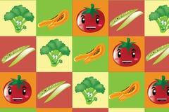 Φρούτα λαχανικών pettern διανυσματική απεικόνιση