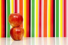 Φρούτα μήλων, πολύχρωμο υπόβαθρο Apple Στοκ φωτογραφία με δικαίωμα ελεύθερης χρήσης