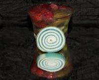 Φρούτα με τα candys Στοκ Εικόνα