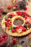 Φρούτα ξινά με την κρέμα στοκ φωτογραφίες