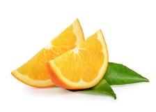 Φρούτα που απομονώνονται πορτοκαλιά Στοκ Φωτογραφία