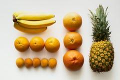 Φρούτα που βρίσκονται στις σειρές Στοκ Εικόνες