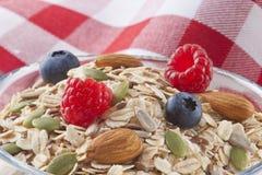 Φρούτα προγευμάτων τροφίμων δημητριακών Στοκ Φωτογραφίες