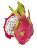 Φρούτα δράκων ζωηρόχρωμα που απομονώνει στο άσπρο υπόβαθρο Στοκ Εικόνα