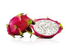 Φρούτα δράκων στο άσπρο υπόβαθρο Στοκ εικόνες με δικαίωμα ελεύθερης χρήσης