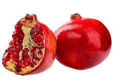 Φρούτα ροδιών που απομονώνονται στο άσπρο υπόβαθρο Στοκ Εικόνα