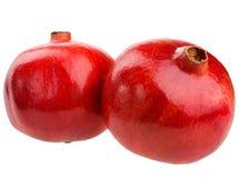 Φρούτα ροδιών που απομονώνονται στο άσπρο υπόβαθρο Στοκ Φωτογραφία