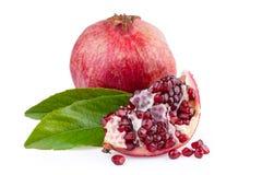 Φρούτα ροδιών που ξεφλουδίζονται Στοκ Εικόνες