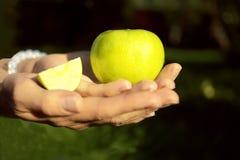 Φρούτα στα χέρια Στοκ Εικόνα