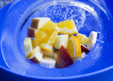 Φρούτα στον πάγο p1 Στοκ Φωτογραφίες
