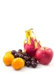Φρούτα στο άσπρο υπόβαθρο Στοκ εικόνες με δικαίωμα ελεύθερης χρήσης