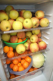 Φρούτα στο ψυγείο Στοκ Φωτογραφία