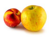 Φρούτα της Apple, αχλάδι που απομονώνεται στο λευκό Στοκ Φωτογραφία