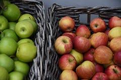Φρούτα της Apple για την πώληση στην Κοπεγχάγη Δανία Στοκ εικόνα με δικαίωμα ελεύθερης χρήσης