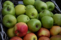 Φρούτα της Apple για την πώληση στην Κοπεγχάγη Στοκ φωτογραφία με δικαίωμα ελεύθερης χρήσης