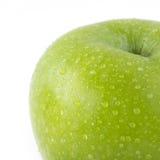 Φρούτα της Apple με τις πτώσεις νερού που απομονώνονται Στοκ εικόνες με δικαίωμα ελεύθερης χρήσης