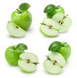 Φρούτα της Apple με το φύλλο Στοκ Φωτογραφία