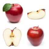 Φρούτα της Apple με το φύλλο Στοκ εικόνες με δικαίωμα ελεύθερης χρήσης