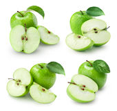 Φρούτα της Apple με το φύλλο Στοκ Εικόνα