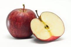 Φρούτα της Apple που απομονώνονται στο άσπρο υπόβαθρο Στοκ Εικόνα