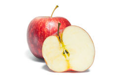 Φρούτα της Apple που απομονώνονται στο άσπρο υπόβαθρο Στοκ φωτογραφίες με δικαίωμα ελεύθερης χρήσης