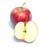 Φρούτα της Apple που απομονώνονται στο άσπρο υπόβαθρο Στοκ Φωτογραφίες