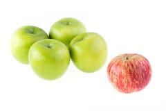 Φρούτα της Apple που απομονώνονται Στοκ Εικόνες