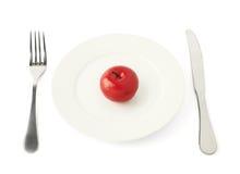 Φρούτα της Apple σε ένα πιάτο που απομονώνεται Στοκ φωτογραφίες με δικαίωμα ελεύθερης χρήσης
