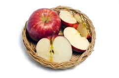 Φρούτα της Apple στο άσπρο υπόβαθρο Στοκ φωτογραφίες με δικαίωμα ελεύθερης χρήσης