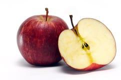 Φρούτα της Apple στο άσπρο υπόβαθρο Στοκ Εικόνες