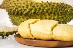 Φρούτα Durain στο άσπρο υπόβαθρο Στοκ Εικόνα