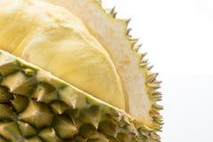 Φρούτα Durain στο άσπρο υπόβαθρο Στοκ Φωτογραφία