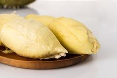 Φρούτα Durain στο άσπρο υπόβαθρο Στοκ Εικόνες