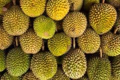 Φρούτα Durian στην αγορά, υπόβαθρο τροφίμων Στοκ Φωτογραφία