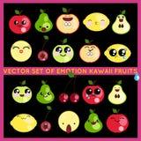 Φρούτα Kawaii Στοκ Εικόνες