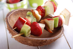 Φρούτα kebabs Στοκ Φωτογραφίες
