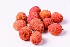Φρούτα Lychee, τα οποία καλούνται κινεζικό δαμάσκηνο Στοκ Φωτογραφία