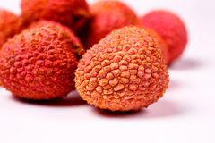 Φρούτα Lychee, τα οποία καλούνται κινεζικό δαμάσκηνο Στοκ Εικόνες