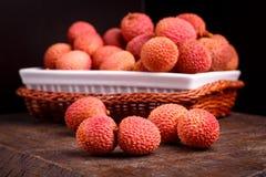 Φρούτα Lychee, τα οποία καλούνται κινεζικό δαμάσκηνο Στοκ φωτογραφία με δικαίωμα ελεύθερης χρήσης